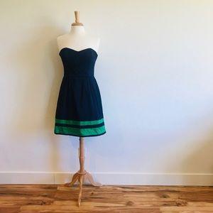 Navy Julie Brown Dress (Size 8)
